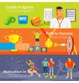Coaching Sport Banner Set vector image vector image