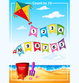 count number summer beach template vector image vector image