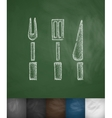 cutlery icon Hand drawn vector image vector image