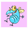 dancing cute blue fly vector image