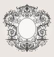 decorative vintage frame border background vector image vector image