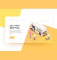 delivery company website design vector image vector image