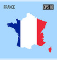 france map border with flag eps10 vector image