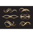 Gold Decorative Labels and Swirls vector image vector image