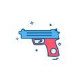 gun icon design vector image vector image