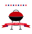 happy independence day banner vector image vector image