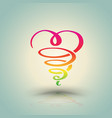 heart twist hand draw vector image vector image