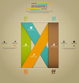 infographics template 3 vector image vector image