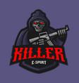 killer mascot vector image