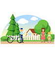 mail delivery color image message vector image vector image
