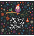 Merry and Bright lettering vector image vector image