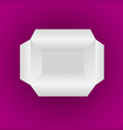 open empty white box isolated on magenta vector image vector image