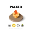 Packed icon in different style vector image vector image