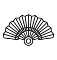 paper hand fan icon outline style vector image vector image
