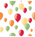 party flat balloons pattern vector image vector image