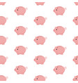 pink piggy bank seamless pattern piggy bank on vector image vector image