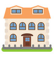 private house with a orange roof vector image vector image