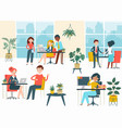public workshop place coworking space character vector image vector image