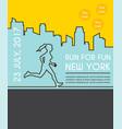 running marathon poster vector image vector image