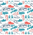 Running seamless pattern vector image