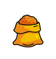 sack with grain icon vector image