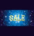 sale festive blue card vector image