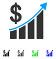 sales trend flat icon vector image vector image