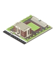 School Isometric Layout vector image vector image