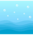 sea wave landscape background vector image vector image