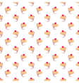 Seamless cupcakes pattern on white background vector image vector image