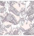 seamless pattern of white winged pegasus vector image