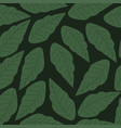 seamless pattern with green leaves backgro vector image