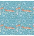 seamless pattern with sketch drawing summer vector image