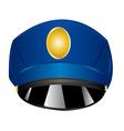 service cap police vector image vector image