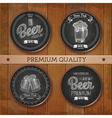 set chalk drawing labels with beer vector image vector image