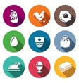 Set of Chicken Icons Hen Rooster vector image vector image