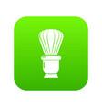 shaving brush icon green vector image vector image