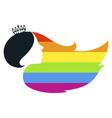 silhouette a girl color lgbt rainbow vector image
