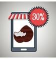 smartphone buy online fruit vector image vector image