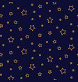 starry night seamless pattern background blue and vector image vector image