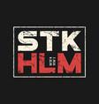 stockholm sweden t-shirt and apparel design vector image vector image