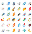 video icons set isometric style vector image vector image