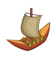 Viking ship icon cartoon style vector image vector image