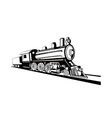 vintage train retro side view vector image vector image