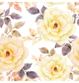 Watercolor seamless roses pattern vector image vector image