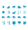 weather color silhouette icons set vector image vector image