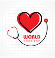 world heart day background stock vector image vector image