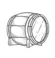 hand drawn wooden barrel vector image