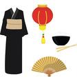 Chinese japanese set vector image