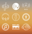 musical logos and icons vector image